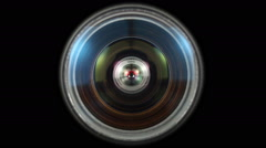 Close up shot of a diaphragm camera shutter blade/Lens iris Stock Footage