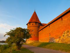 Fortification towers in malbork Stock Photos