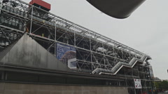 Centre Pompidou in rainy ambience - stock footage