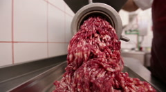 Grinder meat chopping Stock Footage