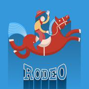 Rodeo poster.cowboy on horse Piirros