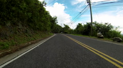 Twisty windy roads of the virgin islands Stock Footage