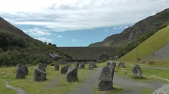 Caban Coch Dam in the Elan Valley, Wales Stock Footage