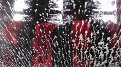 Car Wash From Inside Stock Footage