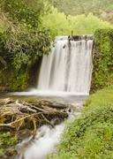 Stock Photo of waterfall on river