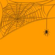 background with spider web - stock illustration