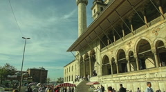 New Mosque Yeni Cami - stock footage