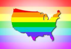 Usa - rainbow flag pattern Stock Photos