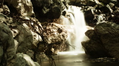 Post apocalyptic waterfall HD Stock Footage