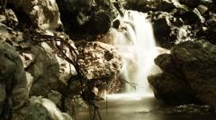 Post apocalyptic waterfall 4K - stock footage