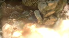 Polluted River time lapse tilt shift  star filter time lapse long shutter 4K Stock Footage