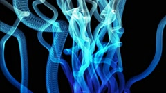 Blue Tentacles Animated Background Vj 25fps Stock Footage