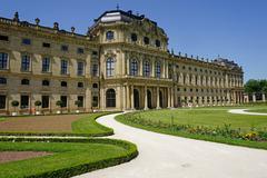 Stock Photo of the residence palace, unesco world heritage site, wurzburg, bavaria, germany,