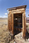 Outside toilet, bodie state historic park, bridgeport, california, united sta Stock Photos