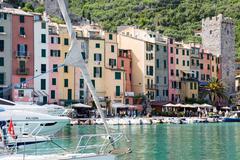 Harbour view, porto venere, cinque terre, unesco world heritage site, liguria Stock Photos