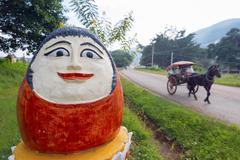 Temple decoration, nget pyaw taw pagoda, pindaya, myanmar (burma), asia Stock Photos