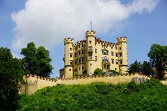 Schloss hohenschwangau, the former palace of ludwig the second, at hohenschwa Stock Photos