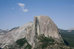 Half dome from glacier point, yosemite national park, unesco world heritage s Stock Photos