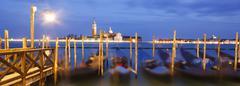 San giorgio maggiore in the distance, venice, unesco world heritage site, ven Stock Photos