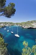 Bay of cala figuera, majorca (mallorca), balearic islands (islas baleares), s Stock Photos