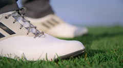 Golfer shoes Stock Footage