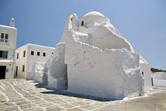 Church of paraportiani, mykonos town (chora), mykonos, cyclades, greek island Stock Photos