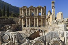 Stock Photo of library of celsus, roman ruins of ancient ephesus, near kusadasi, anatolia, t