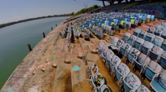Miami Marine Stadium Aerials Stock Footage