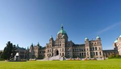 4K Legislature Buildings, Three-Quarter Angle, Tilt Shot Stock Footage