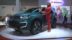 Concept Suzuki iV4  at the Moscow International Automobile Salon Stock Footage