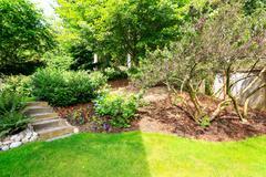 home garden. landscape idea for backyard - stock photo
