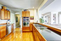 Modern kitchen interior in spacious house Stock Photos