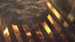 Stock video footage meat on the grill - stock footage