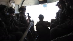 Special Ops Soldiers in Helicopter (HD) - stock footage