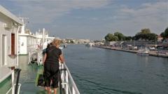 Adrolinija car ferry approaching Zadar port Stock Footage