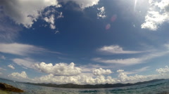 Clouds and sea timelapse, view towards east from island Iz at island Ugljan Stock Footage