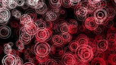 Red Abstract Animated Circles - 4K Resolution Ultra HD Stock Footage