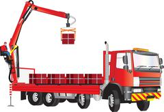 Crane Truck - stock illustration