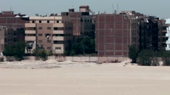 Egypt the Suez Canal 017 residential blocks of Ismailia city Stock Footage