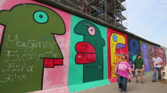 East side gallery, Berlin - stock footage