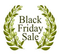 A Beautiful Olive Wreath for Black Friday Sale Stock Illustration
