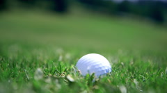 Golf ball dropped - stock footage
