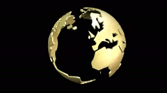 Animation of a rotating earth globe Stock Footage