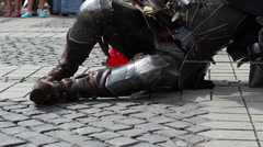 Fallen Knight Rises Stock Footage