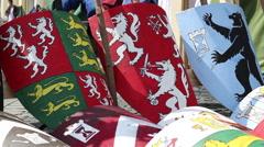 Heraldry Shields Stock Footage