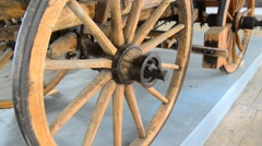 Old wooden wheel, zoom in Stock Footage