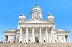 Helsinki cathedral, finland. Stock Photos