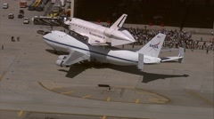 Shuttle Endeavour Los Angeles Stock Footage