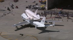 Endeavour Shuttle Airplane Stock Footage
