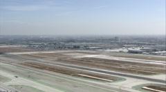 Los Angeles Space Shuttle Landing - stock footage